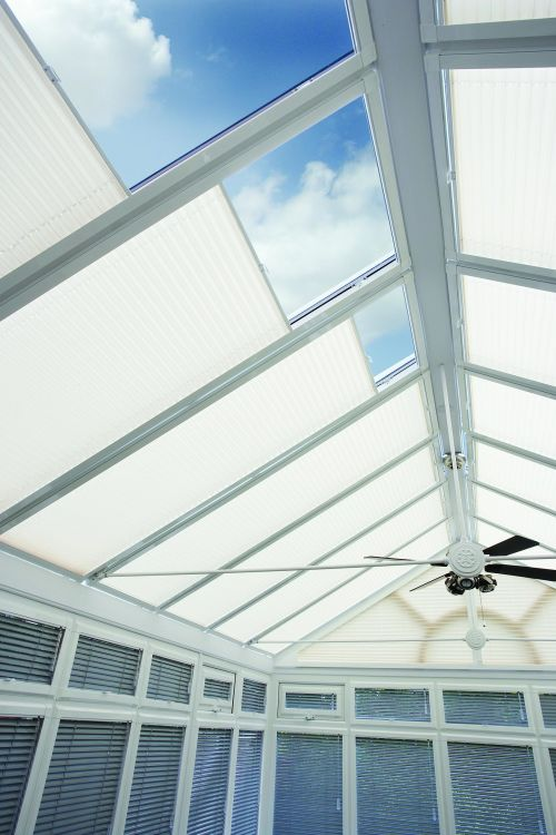 Sunroom and conservatory blinds to help shield the sun