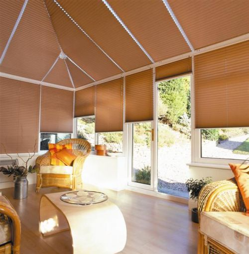 Blinds reign supreme over curtains in conservatories