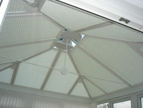 Triangular conservatory blinds fitted in Filey 1 - Conservatory Roof Blinds