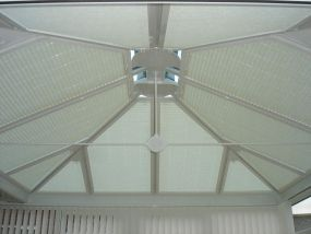 Triangular conservatory blinds fitted in Filey 2 - Conservatory Roof Blinds