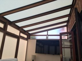 Lean-to wooden conservatory blinds - Conservatory Roof Blinds