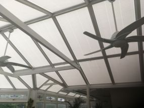 Roof Blinds for white uPVC conservatory in Kilmarnock - Conservatory Roof Blinds