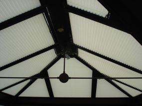 Pleated clip-in roof window blinds in Leicester 2 - Conservatory Roof Blinds