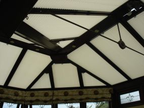 Pleated clip-in roof window blinds in Leicester 3 - Conservatory Roof Blinds