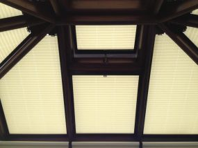 Clip in Blinds in a WOODEN conservatory - Conservatory Roof Blinds