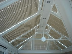 Soft shade for this Mansfield conservatory - Conservatory Roof Blinds