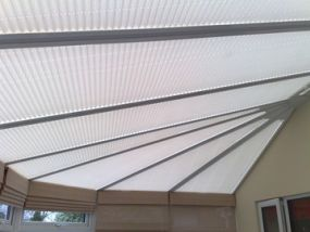 Northampton, fixed obtuse blinds - Conservatory Roof Blinds