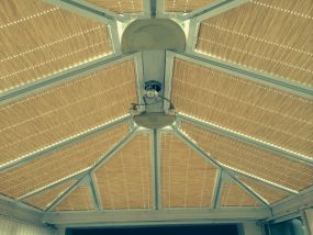 Pleated blinds in Strata fabric in Fleetwood - Conservatory Roof Blinds