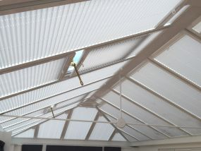 Roof blinds for Beauty Salon in Manchester - Conservatory Roof Blinds