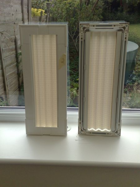 Infill side blinds fitted for a customer