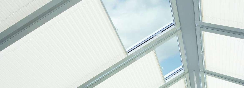 Blinds for sunroom roof