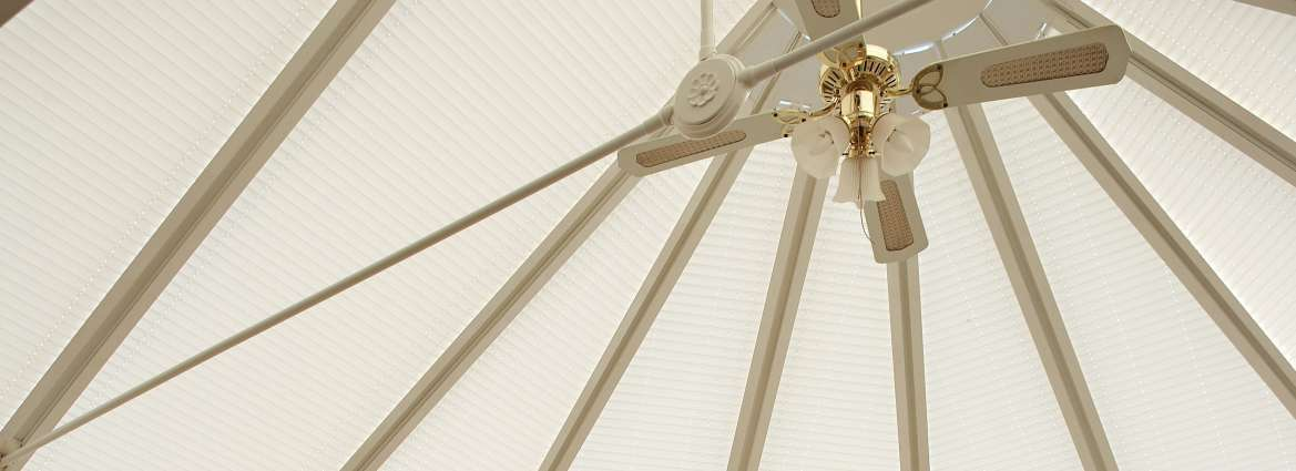 Roof blinds for conservatories