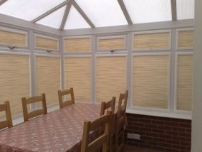 Conservatory window blinds in Stria fabric, Swindon 1 - Conservatory Roof Blinds