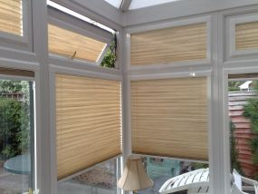 Conservatory window blinds in Stria fabric, Swindon 2 - Conservatory Roof Blinds