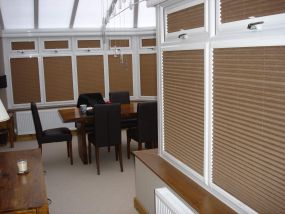 Conservatory french doors and side window blinds, Conway 1 - Conservatory Roof Blinds