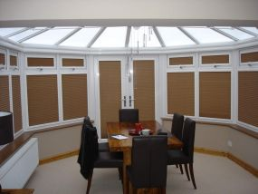 Conservatory french doors and side window blinds, Conway 2 - Conservatory Roof Blinds