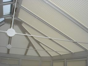 Pleated conservatory blinds in Derby 1 - Conservatory Roof Blinds