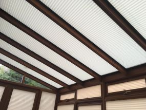 Wooden lean-to conservatory roof blinds - Conservatory Roof Blinds