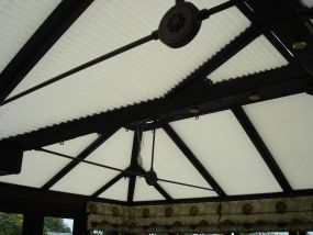 Pleated clip-in roof window blinds in Leicester 1 - Conservatory Roof Blinds