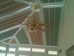 Mixed fabric conservatory roof blinds 1 - Conservatory Roof Blinds