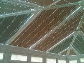 Mixed fabric conservatory roof blinds 2 - Conservatory Roof Blinds