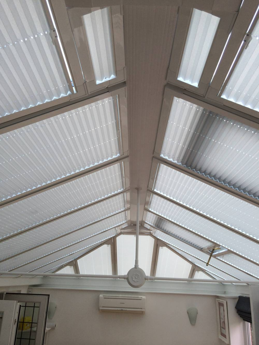 Conservatory Roof Blinds Customer Installation Photo Gallery