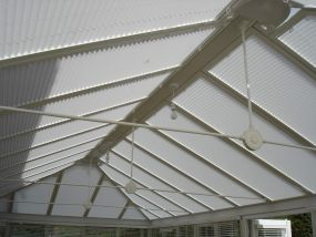 Complete array of blinds for Sheffield conservatory 1 - Conservatory Roof Blinds