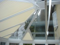 A typical Conservatory Window Blinds installation